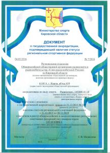 Аккредитация по виду спорта Радиоспорт 1450001411Я